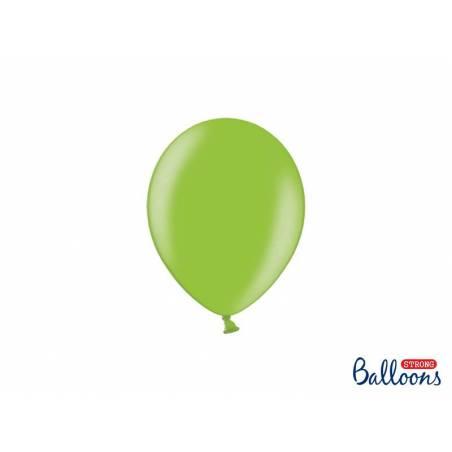 Ballons forts 12cm vert vif métallique