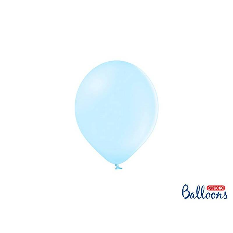 Ballons forts 12cm bleu clair pastel