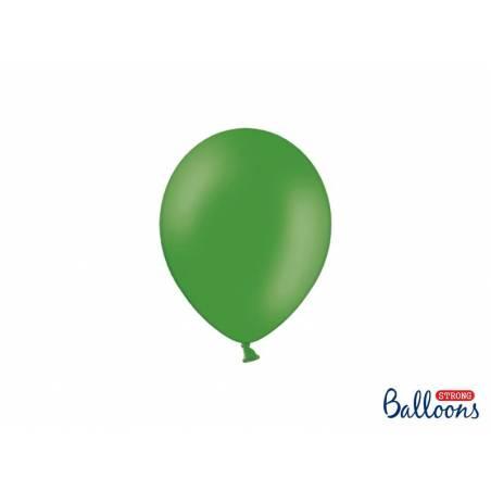 Ballons forts 12cm vert émeraude pastel