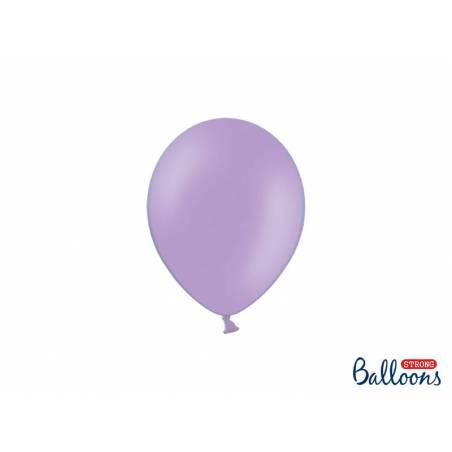 Ballons forts 12cm bleu pastel lavande