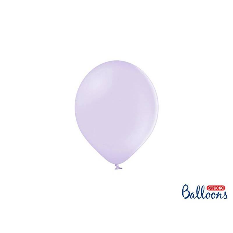 Ballons forts 12cm lilas clair pastel