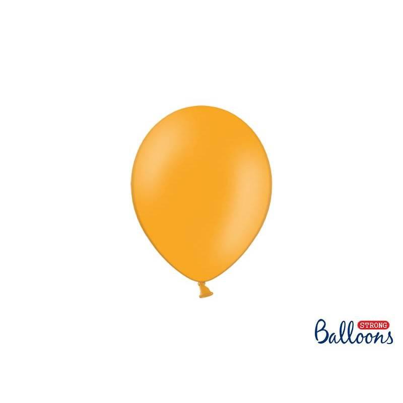 Ballons forts 12cm orange mandarine pastel