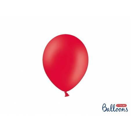 Ballons forts 12cm rouge pavot pastel