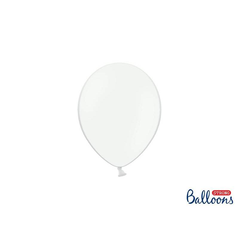 Ballons forts 12cm blanc pur pastel