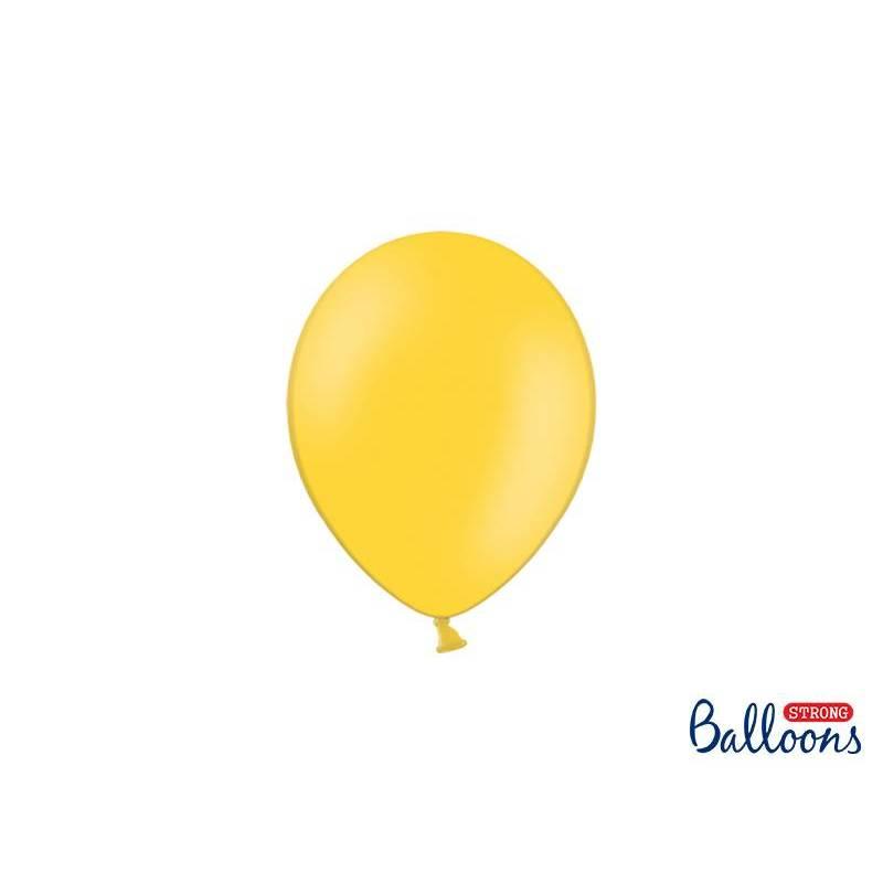 Ballons forts 12cm jaune miel pastel