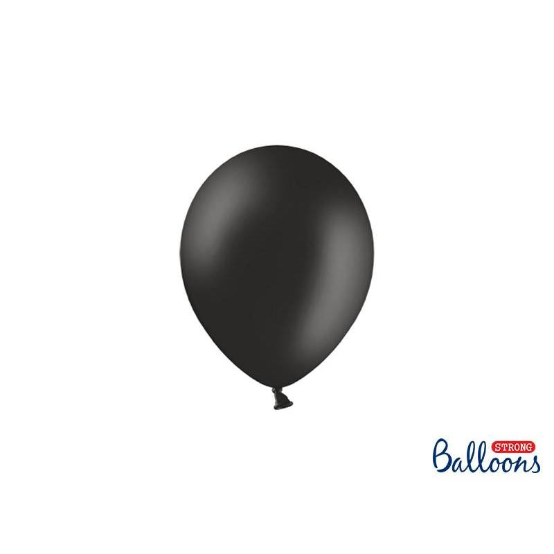 Ballons forts 12cm noir pastel