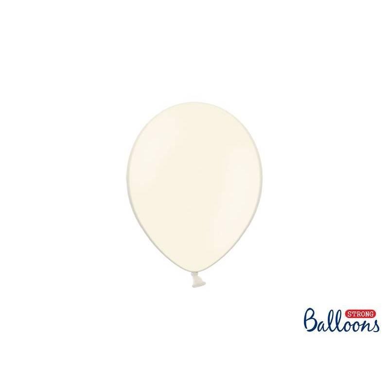 Ballons forts 12cm crème légère pastel
