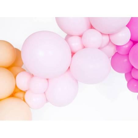 Ballons forts 12cm rose pâle pastel