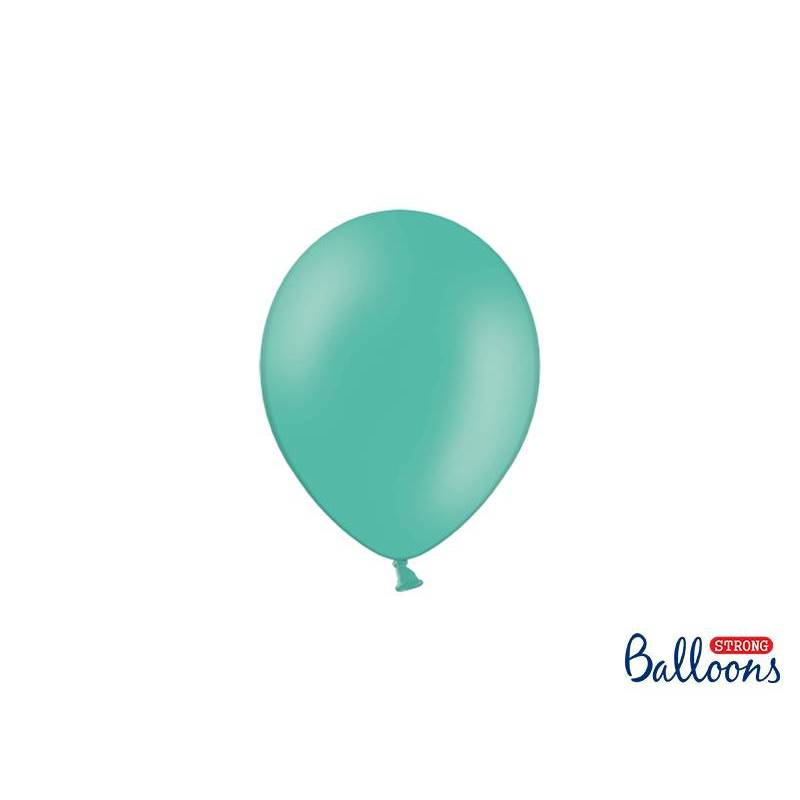 Ballons forts 12cm aigue marine pastel