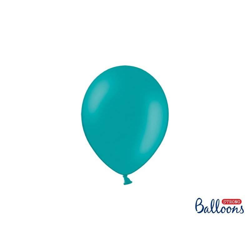 Ballons forts 12cm bleu pastel lagon