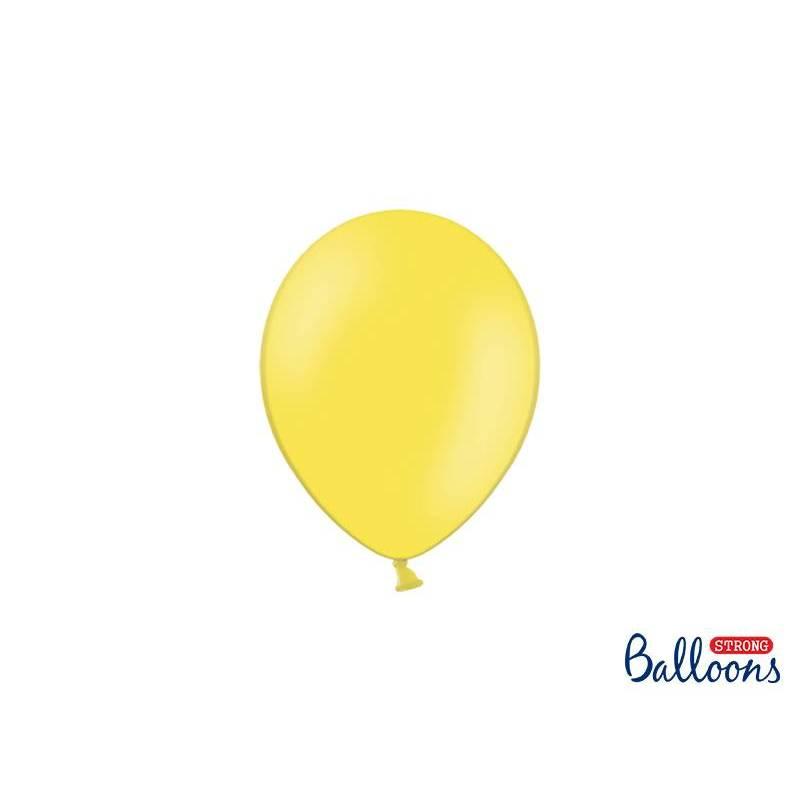 Ballons forts 12cm zeste de citron pastel