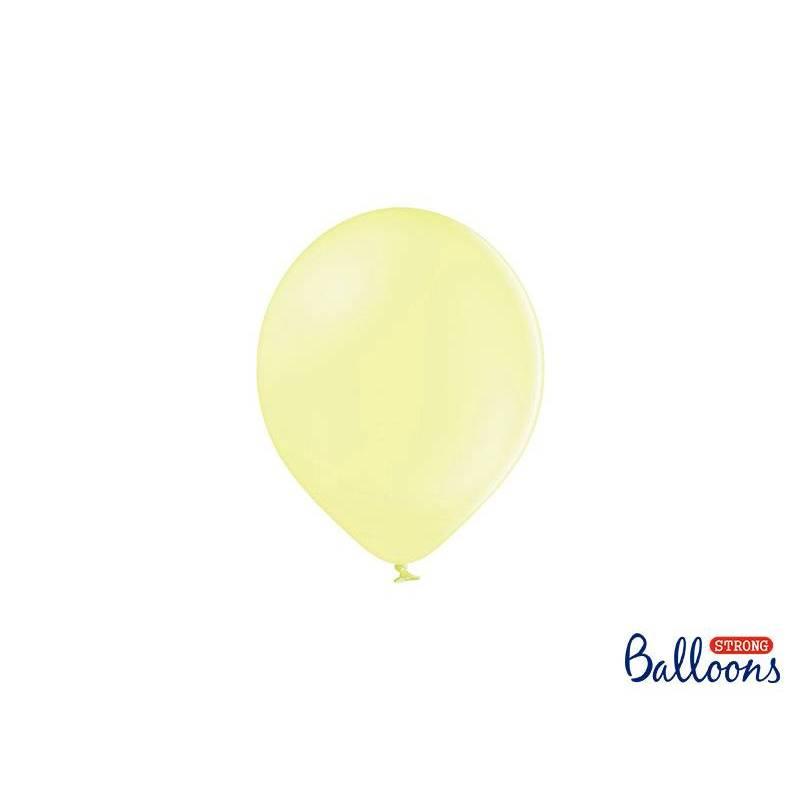 Ballons forts 12cm jaune pâle pastel
