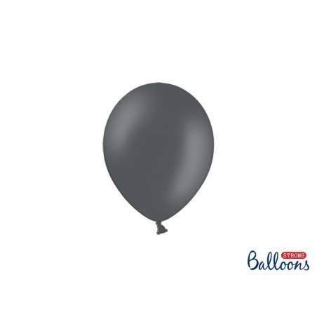 Ballons forts 12cm gris pastel