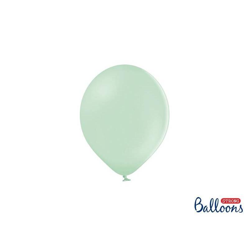Ballons forts 12cm pistache pastel