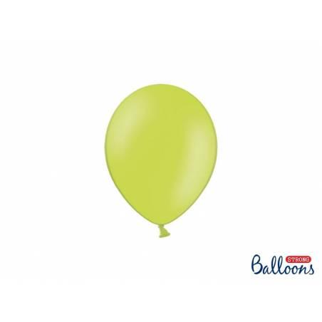 Ballons forts 12cm vert citron pastel