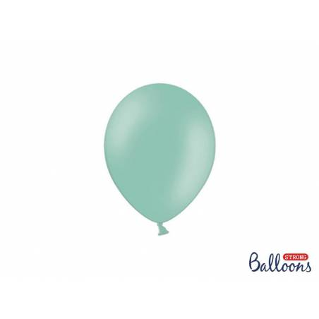 Ballons forts 12cm vert menthe pastel