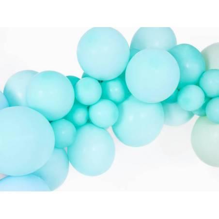 Ballons forts 12cm menthe légère pastel