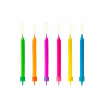 Bougies d'anniversaire colorées mélanger 65 cm
