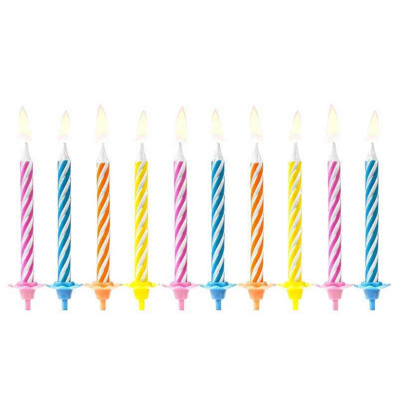 Bougies d'anniversaire mélanger 6cm