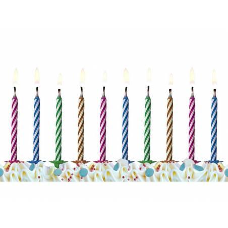 Bougies d'anniversaire Magic mix 6cm