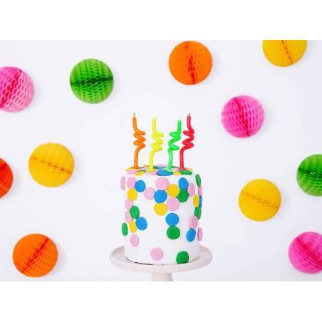 Bougies d'anniversaire curl mix 8cm