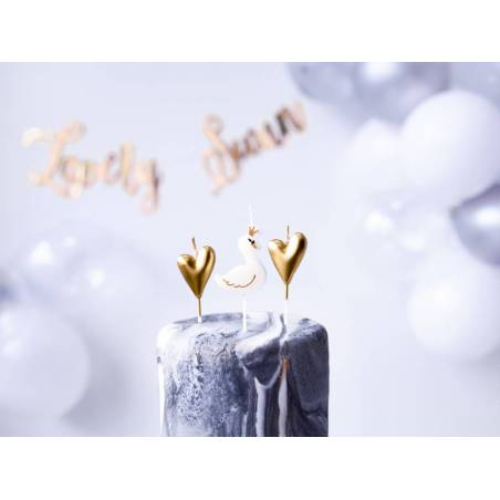 Bougies d'anniversaire Lovely Swan mix 3.5-4cm