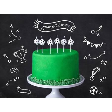 Bougies d'anniversaire Ballons de foot 2.5cm