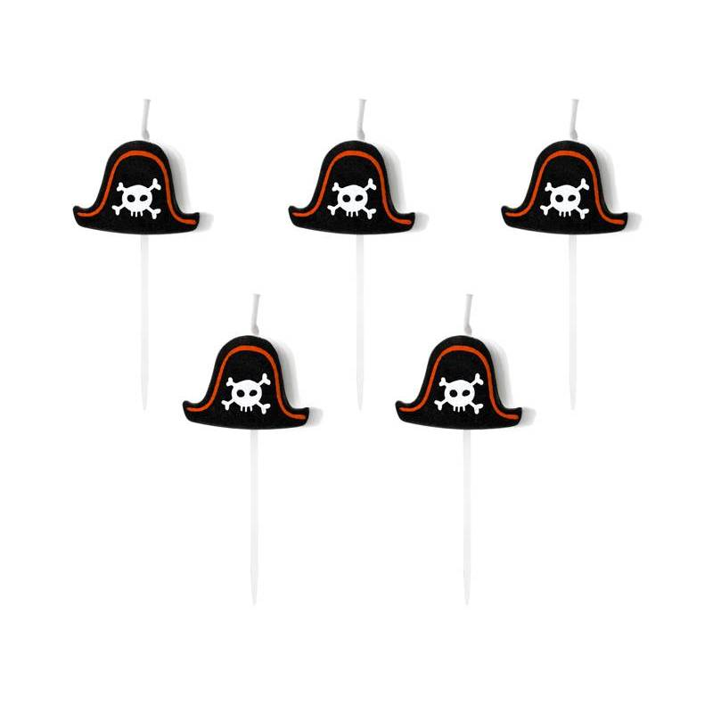 Bougies d'anniversaire Pirates Party 2cm