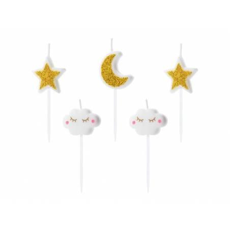 Bougies d'anniversaire Little Star mélanger 2-3cm