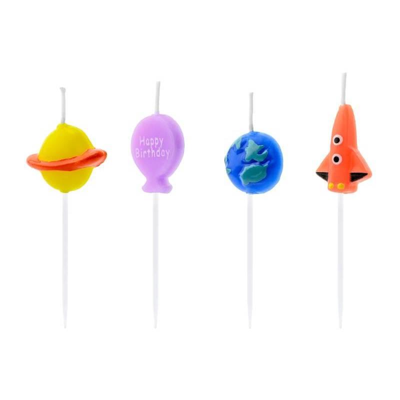 Bougies d'anniversaire Space mix 2-3cm