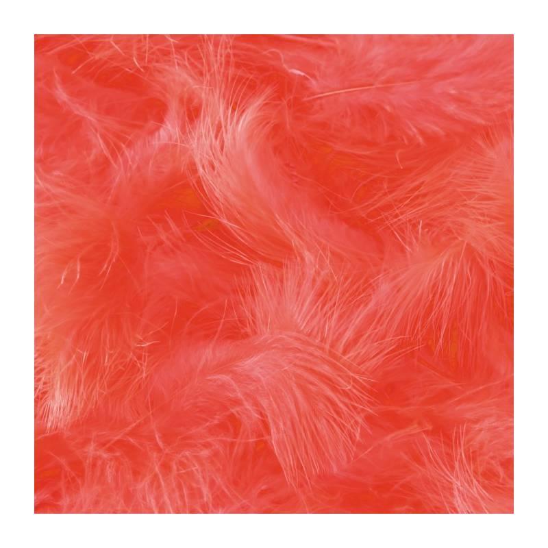 Plumes de dinde - Couleur corail