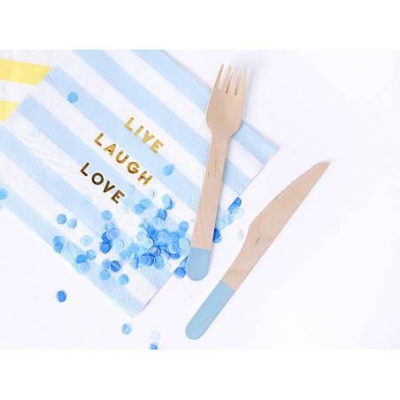 Couverts en bois bleu clair 16 cm