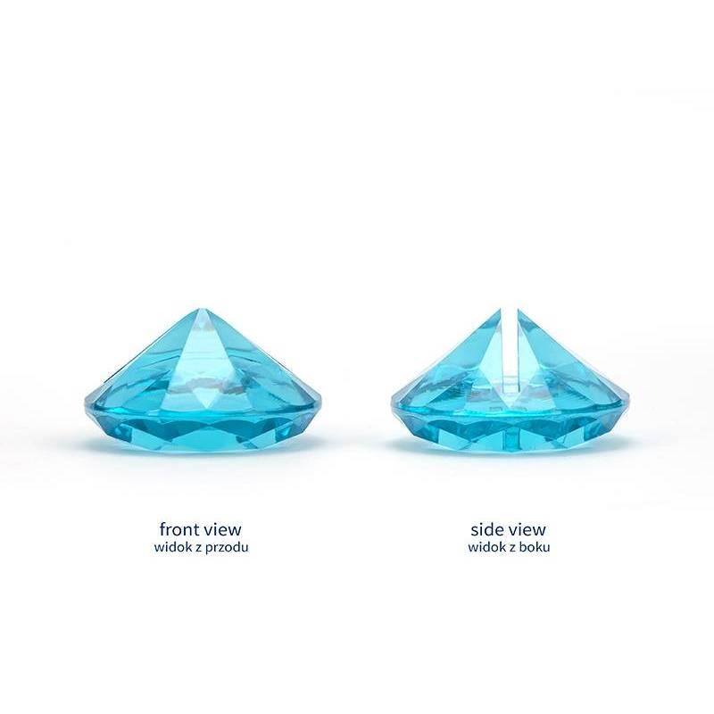 Porte-cartes en diamant turquoise 40 mm