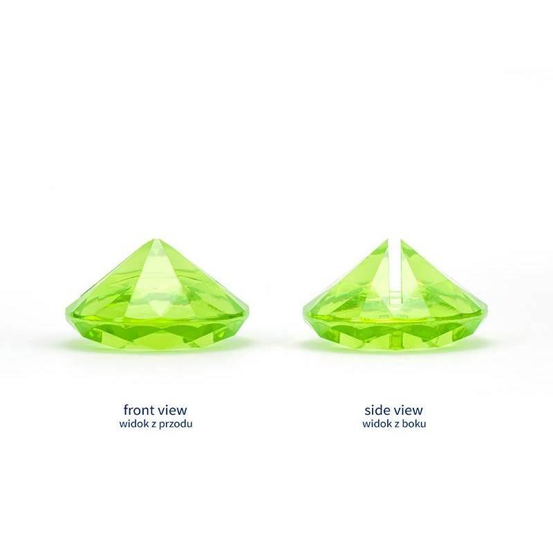 Porte-cartes en diamant vert pomme 40 mm