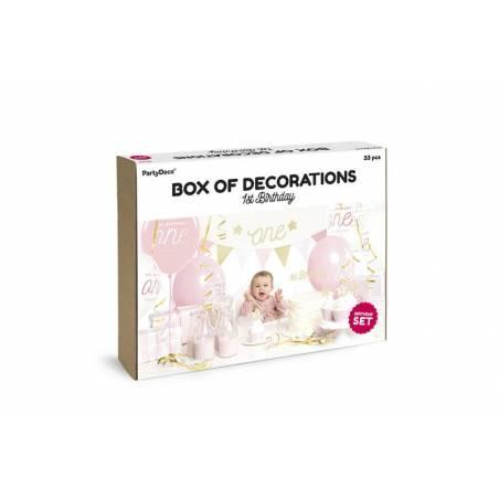 Set de décorations de fête - 1er anniversaire or