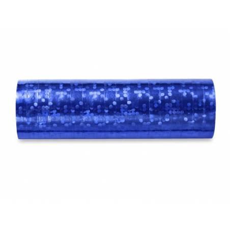 Streamer holographique bleu 38 m