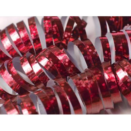 Streamer holographique rouge 38 m