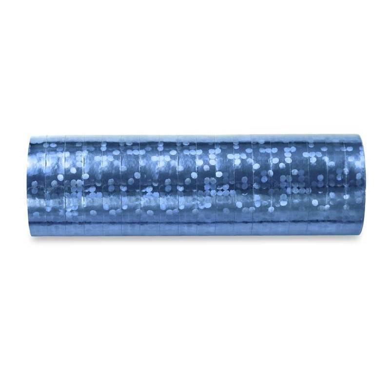 Streamer holographique bleu ciel 38 m