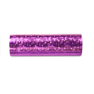 Streamer holographique rose pâle 38 m