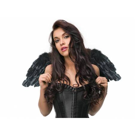 Ailes d'ange noir 75 x 30cm