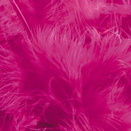 Plumes de dinde - Couleur fuchsia