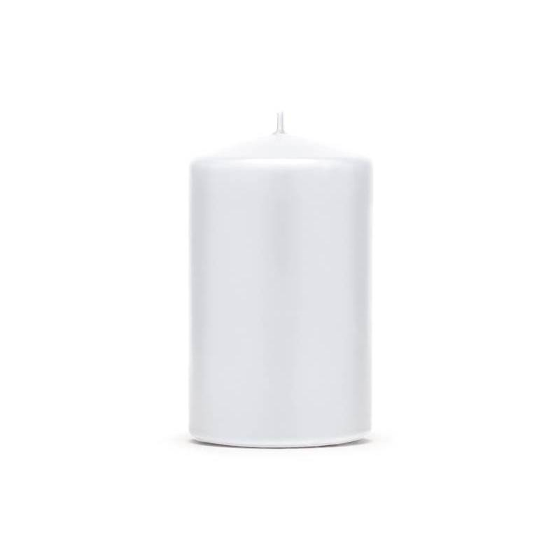 Pilier bougie mat blanc 10 x 65 cm