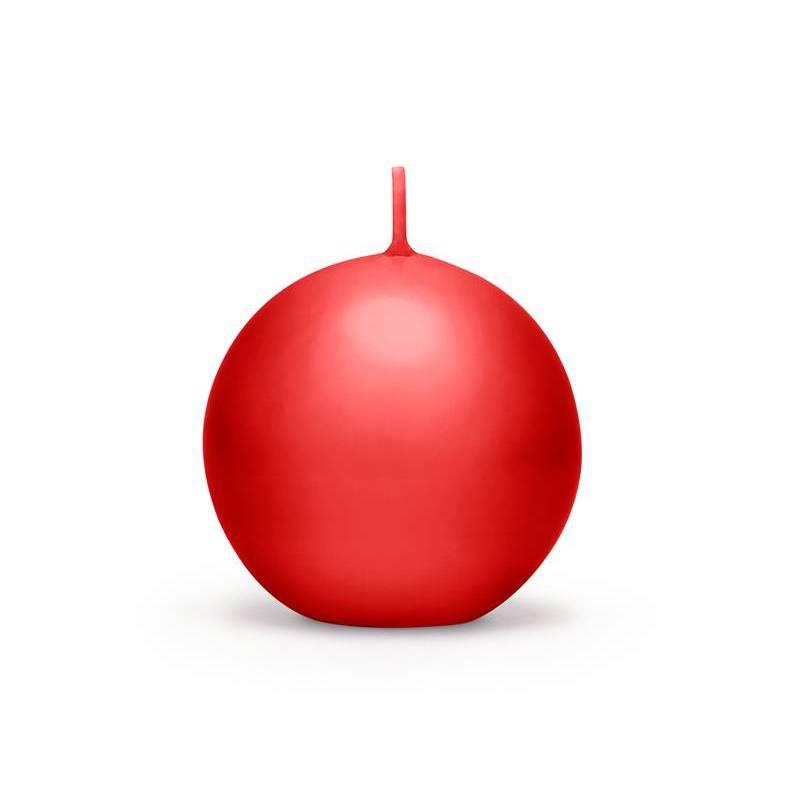 Bougie Sphère mate rouge 6cm