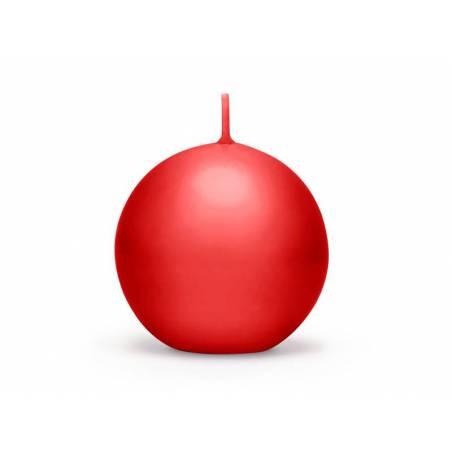 Bougie Sphère matte rouge 8cm