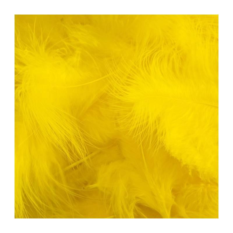 Plumes de dinde - Couleur jaune fluo