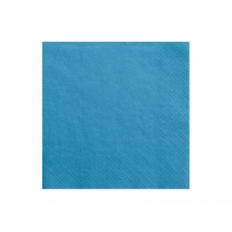 Serviettes de table 3 épaisseurs bleu 33x33cm