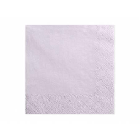 Serviettes 3 couches lavande pâle 33x33cm