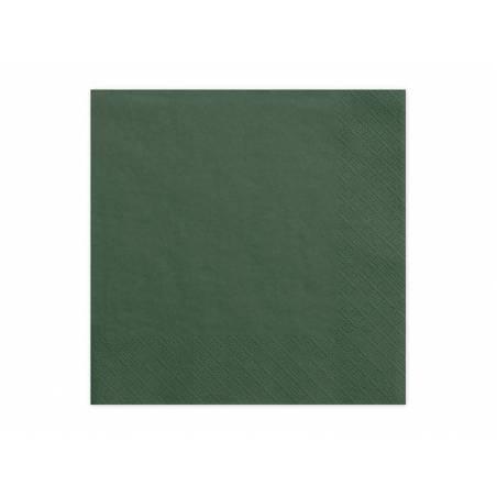 Serviettes 3 couches vert bouteille 33x33cm