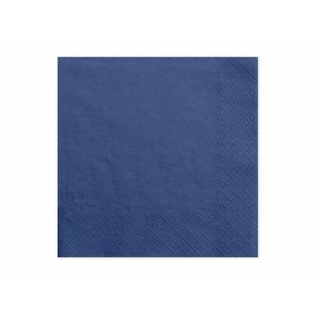 Serviettes 3 plis bleu marine 33x33cm