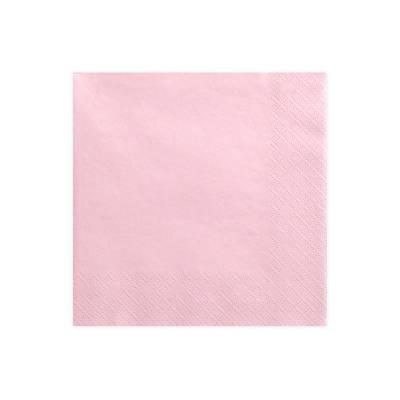 Serviettes 3 couches rose clair 33x33cm